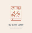washing machine icon washer line logo flat sign vector image