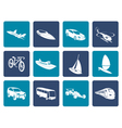Flat different kind of transportation and travel vector image vector image