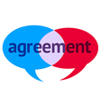 Agreement Speech Bubble vector image