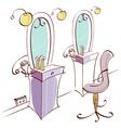 Beauty Salon Interior vector image vector image