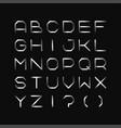 metal font iron english alphabet steel latin vector image