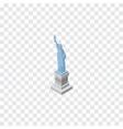 isolated statue of liberty isometric new york vector image