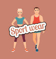 fitness fashion couple in sport wear vector image