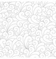 seamless unusual pattern with waves vector image