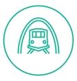 Railway tunnel line icon vector image