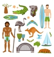 Australia Icons Set vector image