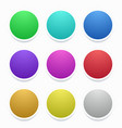 Colorful circle stickers set on white vector image