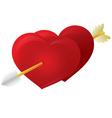 Cupid Arrow Heart vector image