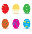 easter egg icon isolated on white background vector image