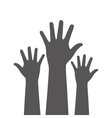 Hands up icon design vector image