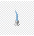 isolated statue of liberty isometric new york vector image