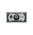 One Cyber Dollar Etching vector image