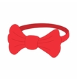 Red bow tie icon cartoon style vector image