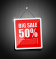 Sale signs hanging with chain vector image