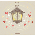 Valentine flashlight vector image