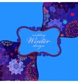 Winter seamless pattern with pink and blue vector image