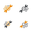 Wrench and gear icon vector image