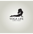 Yoga sign Girl in yoga pose cobra vector image