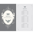 menu with floral ornaments in style baroque vector image vector image
