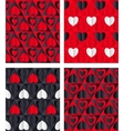 Paper Hearts Seamless vector image