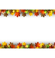 background autumn white space vector image