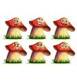 Mushroom expression vector image vector image