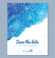 Watercolor floral wedding invitation vector image