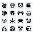 Pet icon set vector image