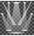 Set of White Spotlights vector image
