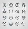 Modern media web icons collection vector image