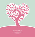 heart tree pic vector image vector image