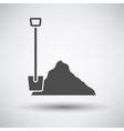 Construction shovel and sand icon vector image vector image