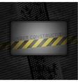 metallic grunge background blank template vector image vector image