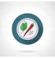 Hot spicy flat color design icon vector image