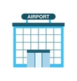 airport building isolated icon design vector image
