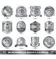 Blacksmith Metal Label vector image
