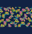 butterfly seamless pattern vector image