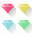 diamond shape in four different colors vector image