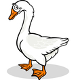 Goose farm bird animal cartoon vector image