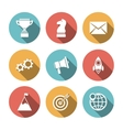 Startup Icons Flat vector image