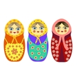 Three Russian nesting dolls vector image