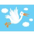 white stork vector image