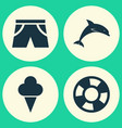 season icons set collection of mammal sweets vector image