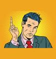 businessman pointing finger up vector image
