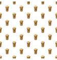 disposable coffee cup pattern vector image