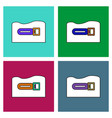 flat icon design collection torpedo underwater vector image vector image