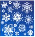 snowflake design collection vector image vector image