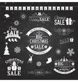 Christmas sale design set - labels emblems on vector image