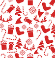 Seamless Vintage Christmas Pattern vector image vector image