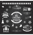 Christmas sale design set - labels emblems on vector image